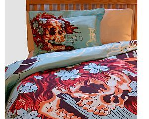 1 New King Size 100/% Cotton Handmade Pillowcase Ed Hardy Love
