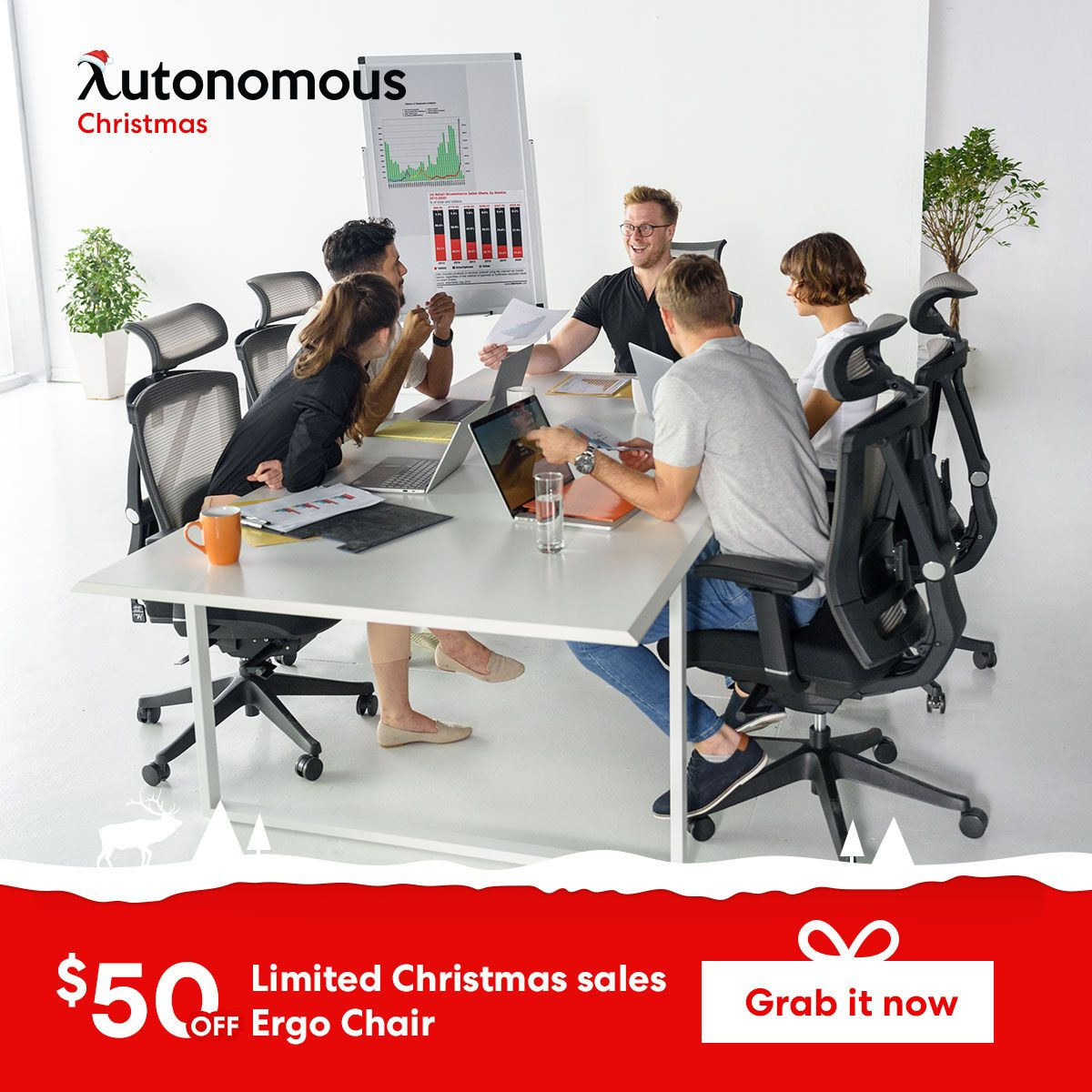 Limited Christmas Sales. Get your 50 off Ergo Chair