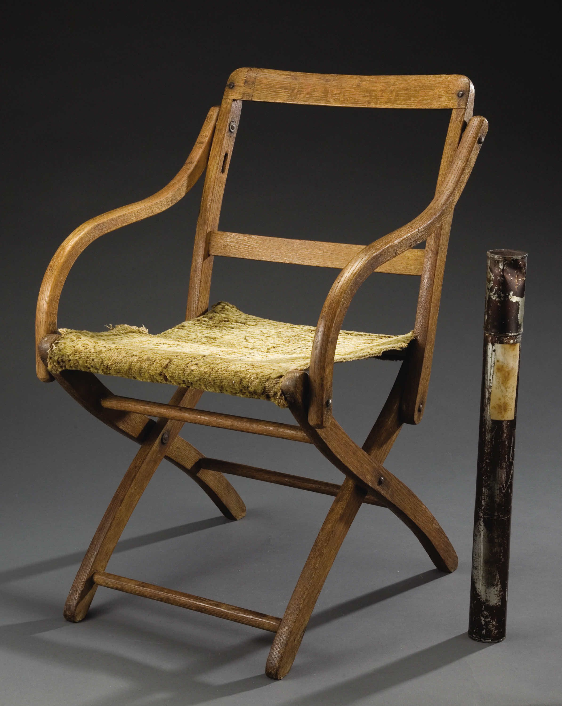 Folding Oak Civil War Camp Chair Hand Made From Bent Oak
