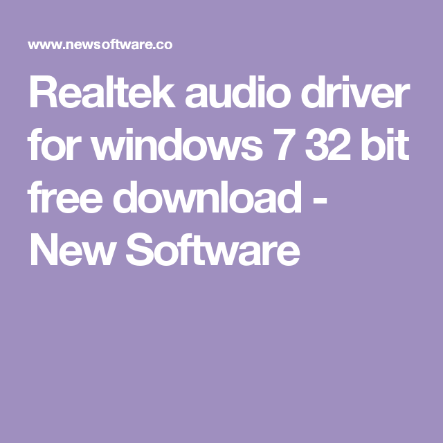 all drivers for windows 7 32 bit free download