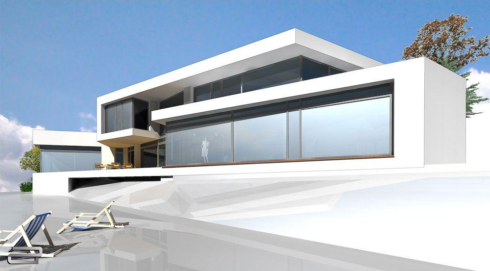 Neubau haus in moderner architektur zum festpreis for Minimalistisches haus