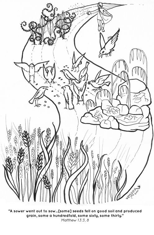 The Parable of the Sower coloring page: | раскраски | Pinterest ...