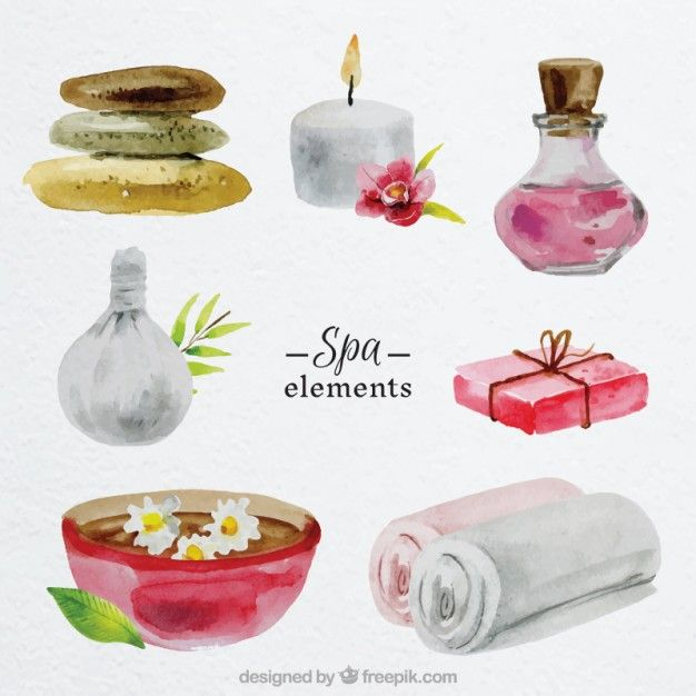 Image result for free spa watercolor images for commercial for Uniform spa vector