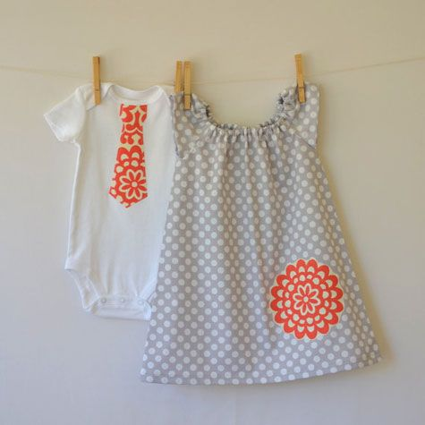 The Fresh Stitch Kid's Clothes. We can hardly handle all the adorable in Charleston-based seamstress Corinne Citrolo's Etsy shop, like this brother & sister sibling set ($48).