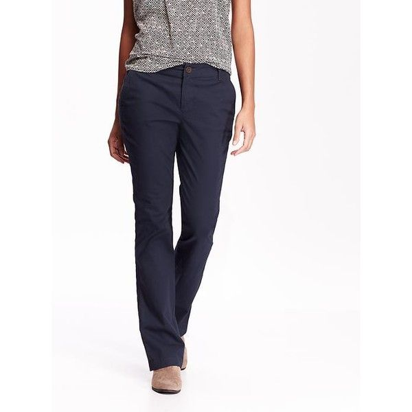 cc94164ef49f8 Old Navy Womens Boot Cut Khakis ($22) ❤ liked on Polyvore featuring ...