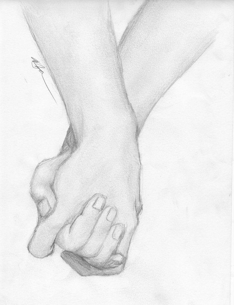 Holding hands sketch