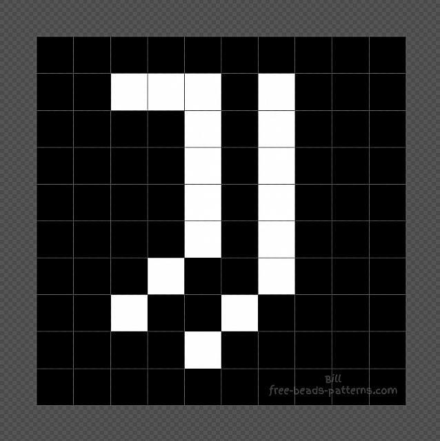 Juventus Logo Hama Beads 10x10