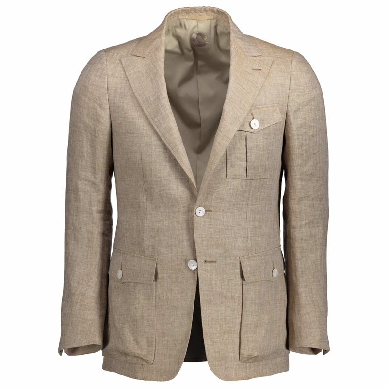 Linen safari sport coat