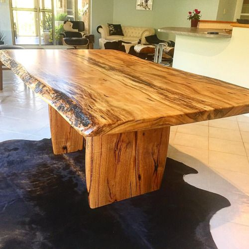 Marri Natural Edge Dining Table Seats Up To 8 Made In Fremantle