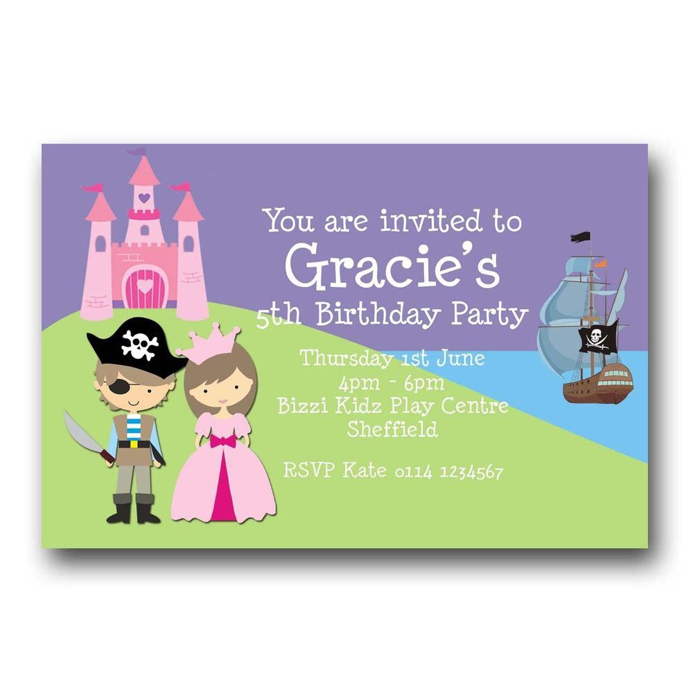 Princess and Pirate Party Invitations Free | Pirate Party ...