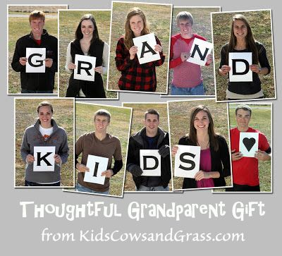 Kids cows and grass homemade christmas gift for grandparents kids cows and grass homemade christmas gift for grandparents solutioingenieria Image collections