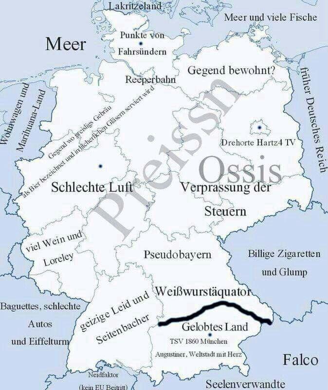 Schwaben Karte Deutschland.Deutschland Auf Bairisch Fun Lustige Bilder Schwäbische Sprüche