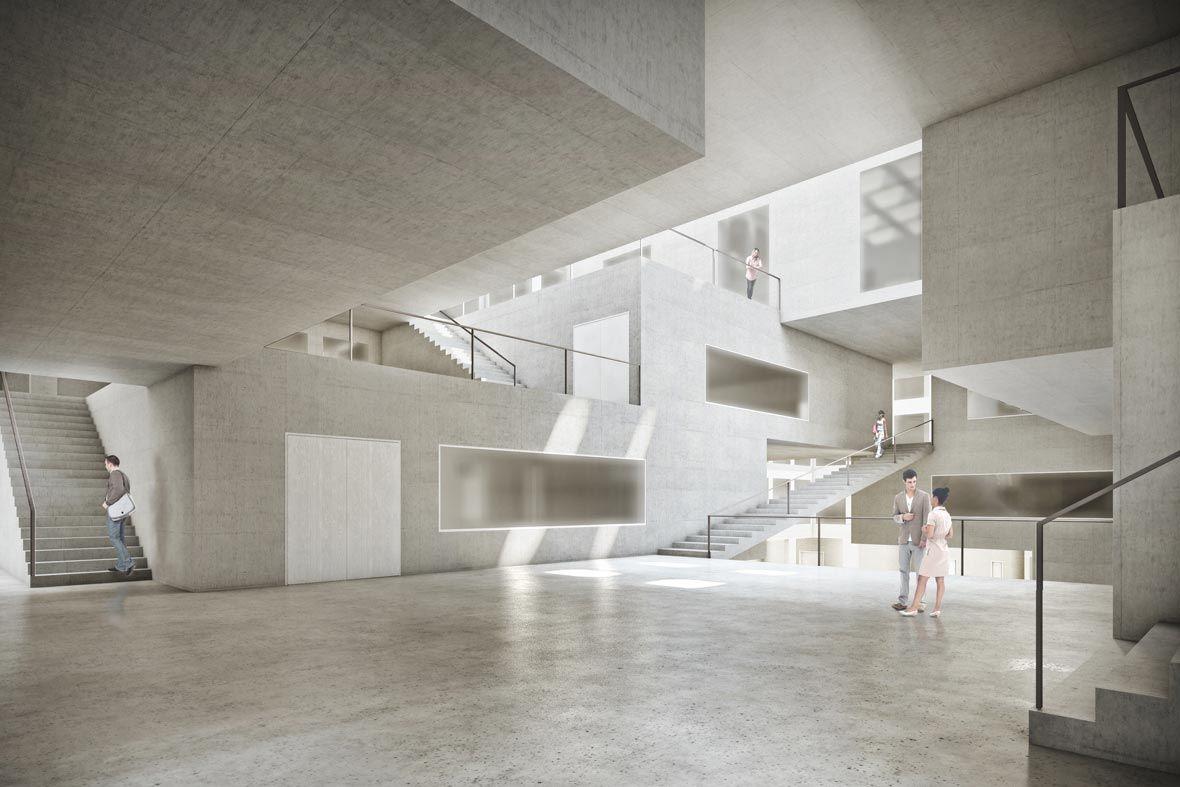 Perspektive innenraum 3d a t r i u m pinterest for Innenraum design berlin