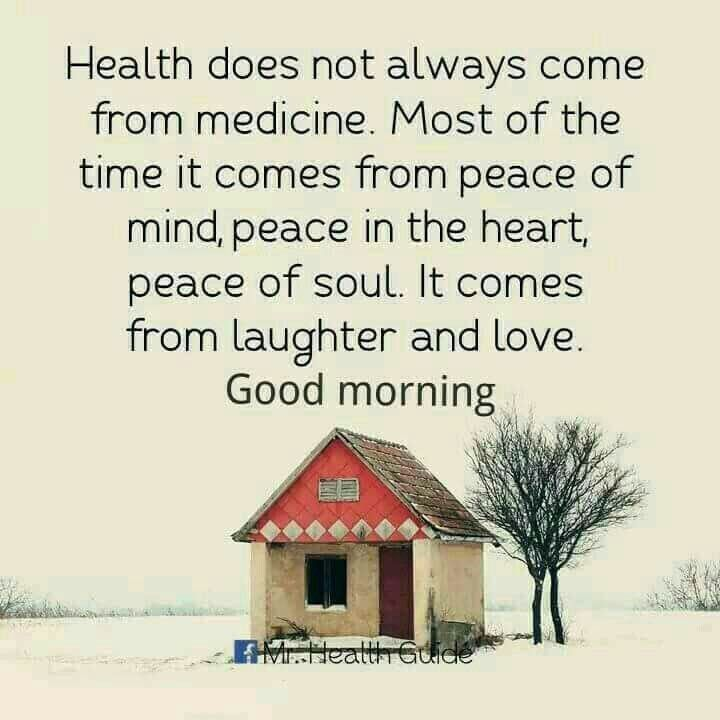 Good Morning Quote Health