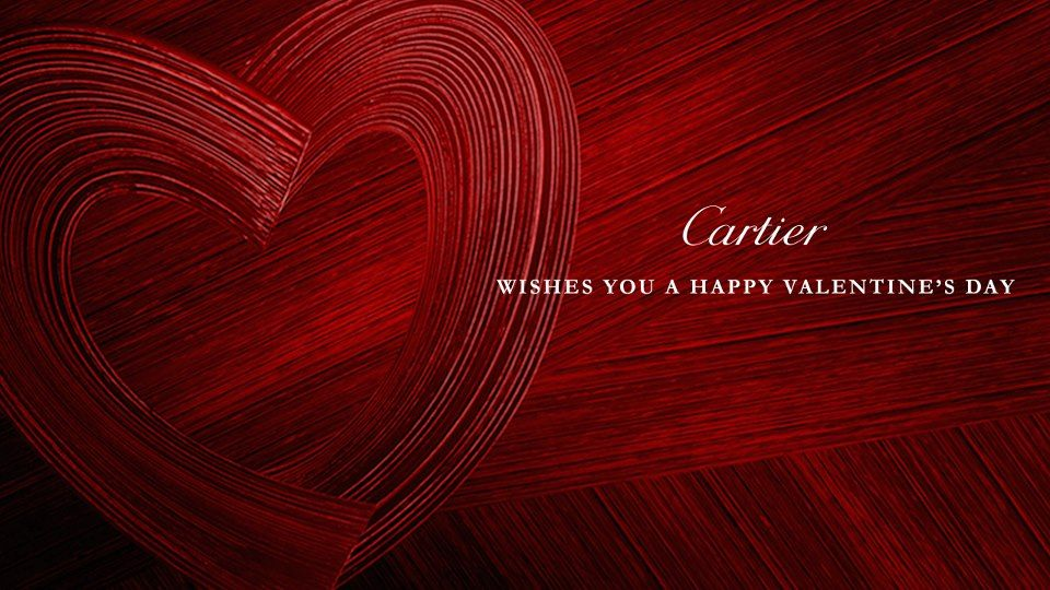 Cartier Wishes You A Happy Valentine S Day Happy Valentine Valentines Jewelry Happy Valentines Day