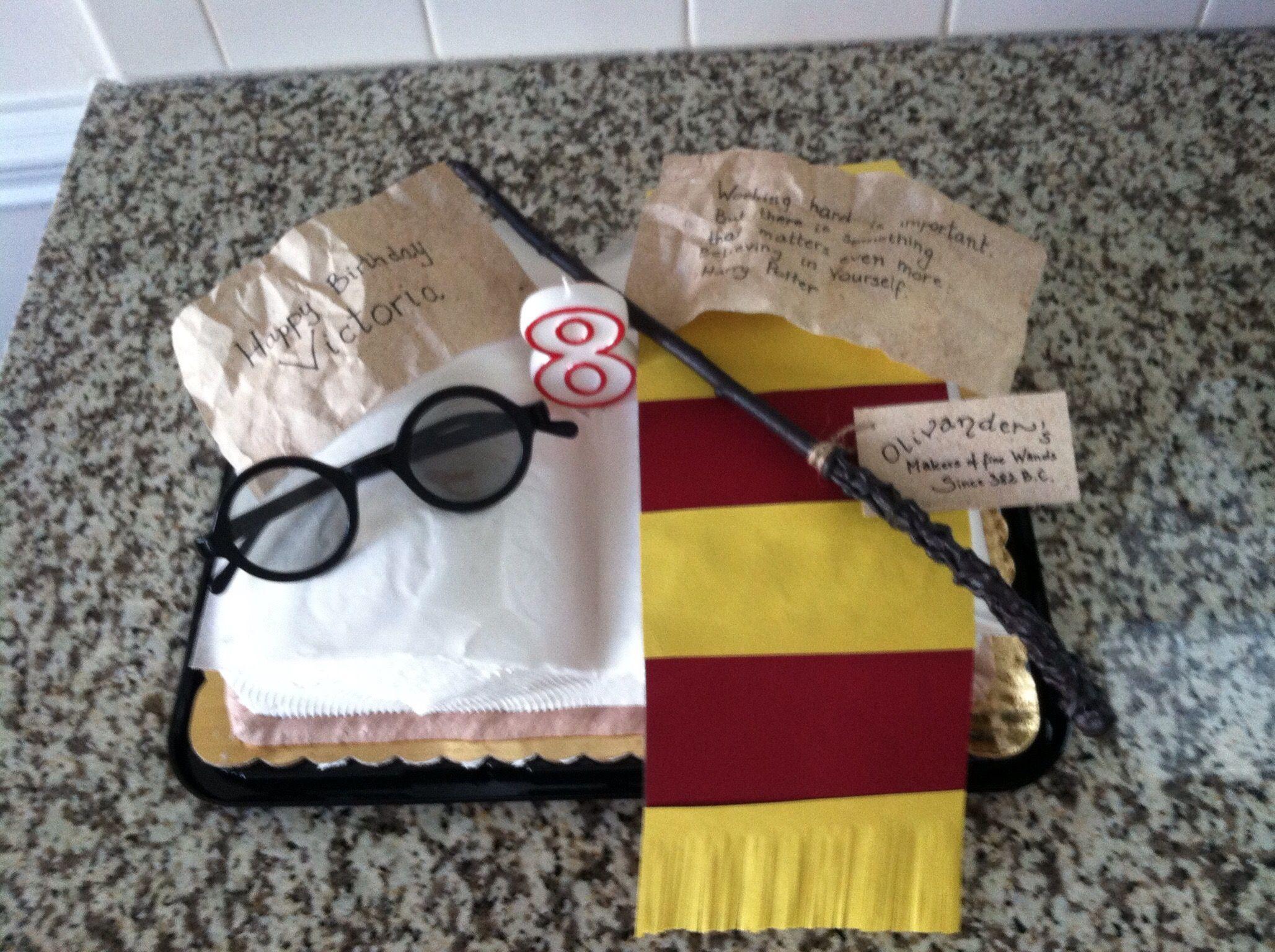 Birthday cake decor Harry Potter theme Open book shaped