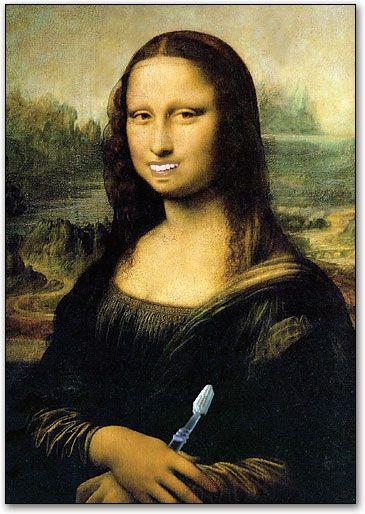 Mona Lisa Smile Postcard by SmartPractice