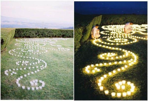 arabesco de velas