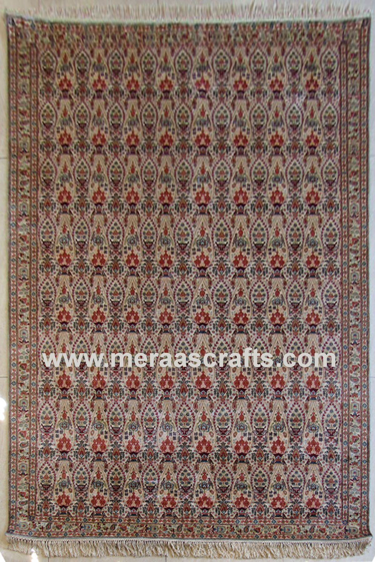 Area Rug Persian Oriental Hand Knotted