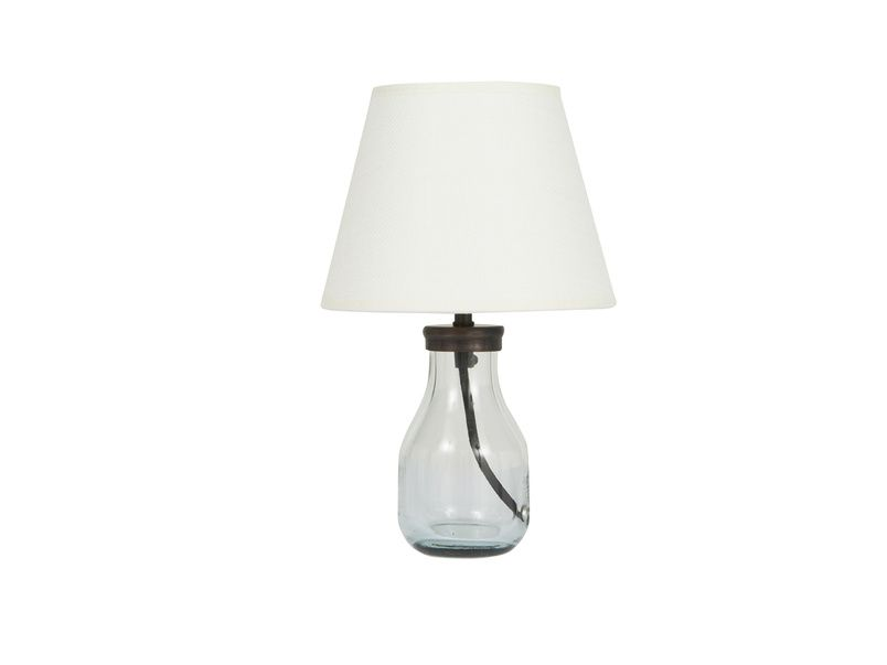 Mini Milk Bottle Table Lamp | Glass