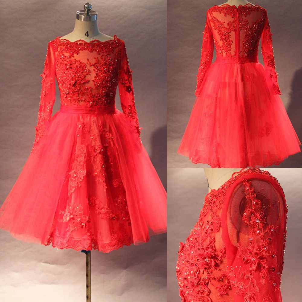 Click to buy ucuc real image vintage wedding dress lace custom made