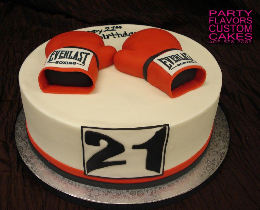 Surprising Boxing Gloves Cake Design By Party Flavors Custom Cakes Small Birthday Cards Printable Inklcafe Filternl