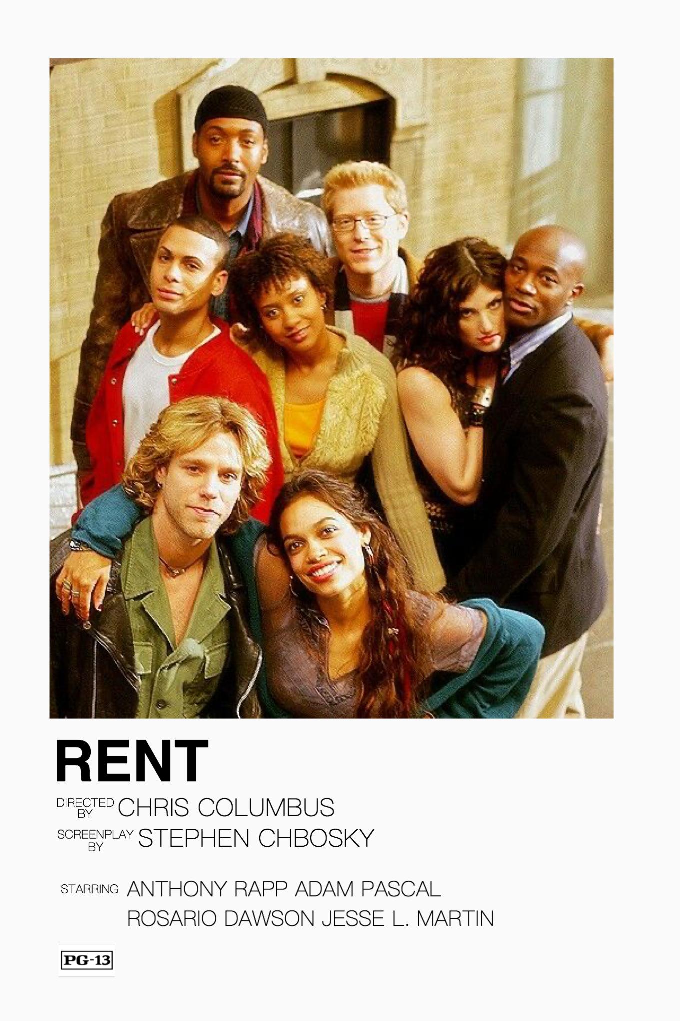 Minimalist Movie Poster Rent Rent Musical Poster Film Posters Minimalist Musical Movies