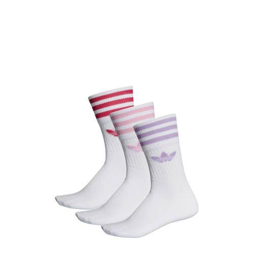 adidas Originals Adicolor sokken (set van 3 paar) blauw/wit ...