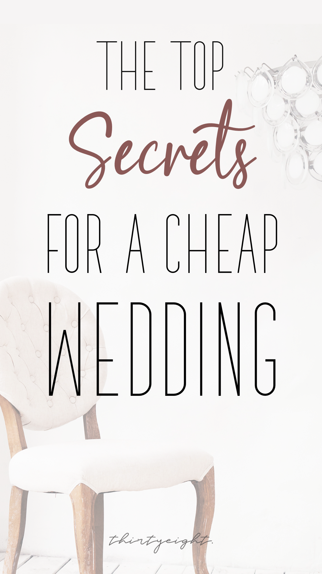 How To Have A Cheap Wedding