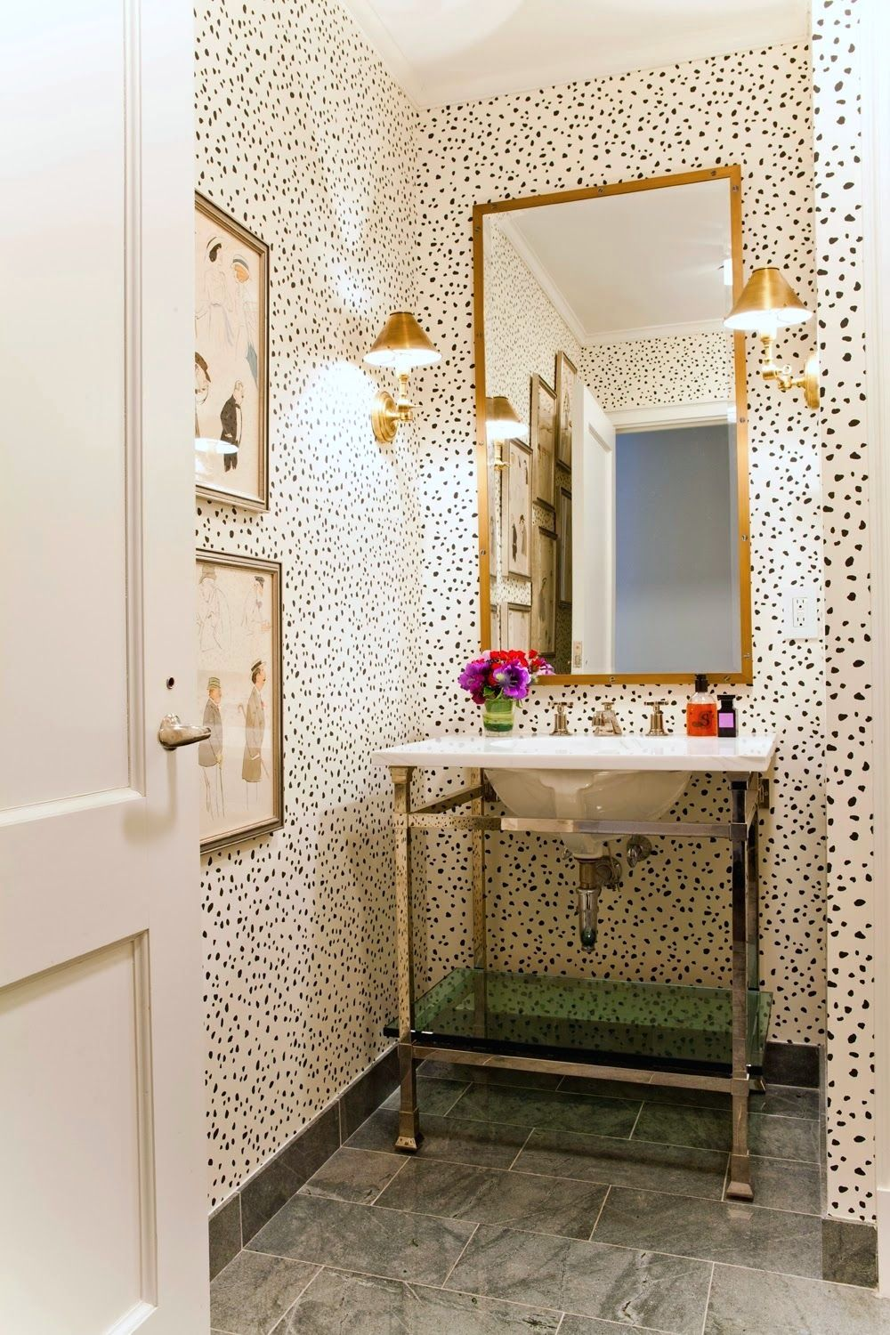 Leopard Print Small bathroom, Beautiful bathrooms