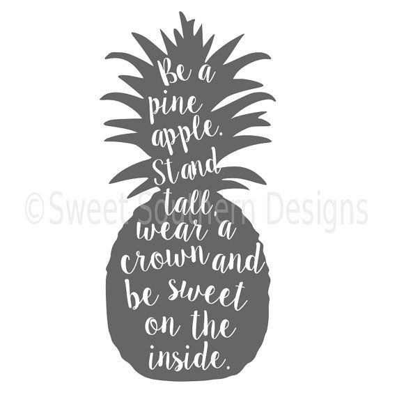 Download Be a pineapple SVG instant download design for cricut or ...