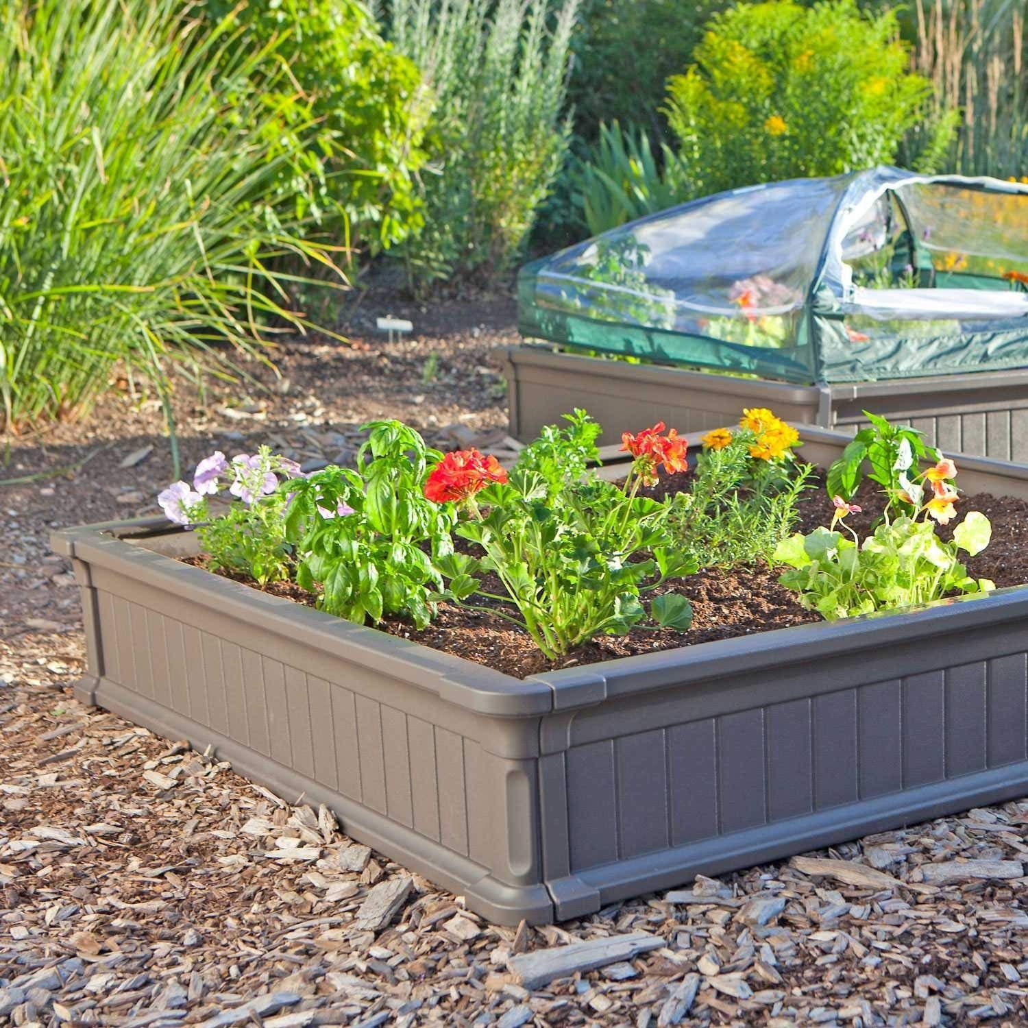 Lifetime 60065 Raised Garden Bed 4 By 4 Feet 1 Bed Plant