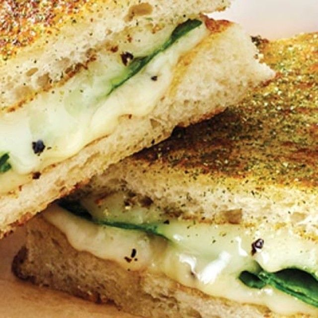 The Weekly Special: Truffle Pecorino Melt (truffle pecorino w/ fresh spinach on artisan white). Delicious & truffle-licious! #GrilledCheeseHappiness