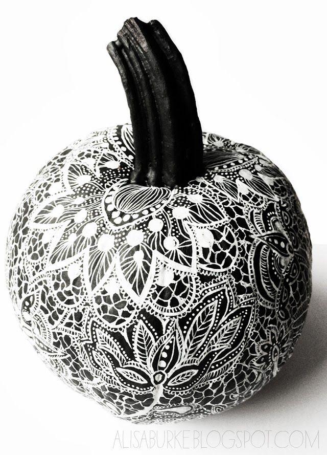 Lace design pumpkin love this idea from artist designer