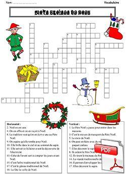 Célèbre Mots croisés de Noël (La classe des gnomes) | Mots croisés  UU56
