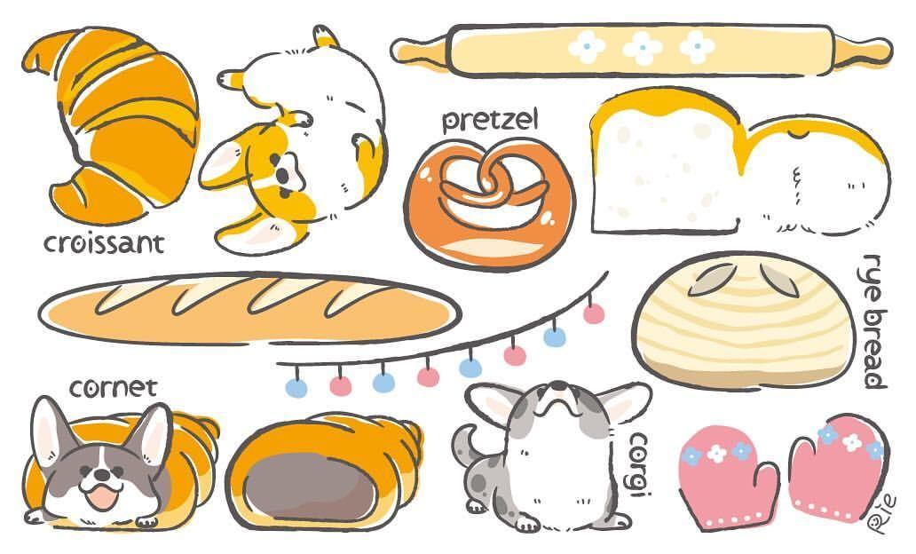 Corgi And Bread コーギーとパンでコギまるけ コーギーとパン