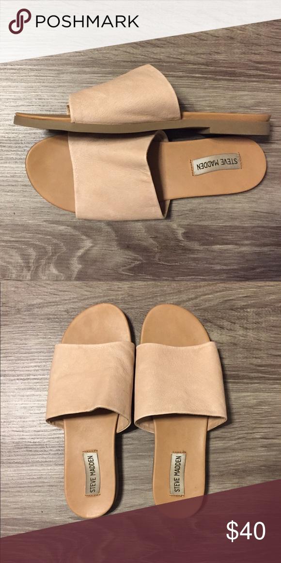 Steve Madden Karolyn Flat Sandal, Cream