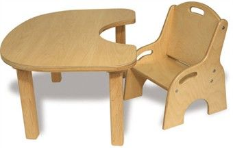 Toddler Wooden Table and Chair Set | Wooden tables, Children s and ...