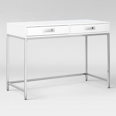 Ronchamp High Gloss Chrome Desk White Project 62 White Desks