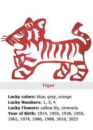 Tiger Chinese Zodiac 2019 01 07