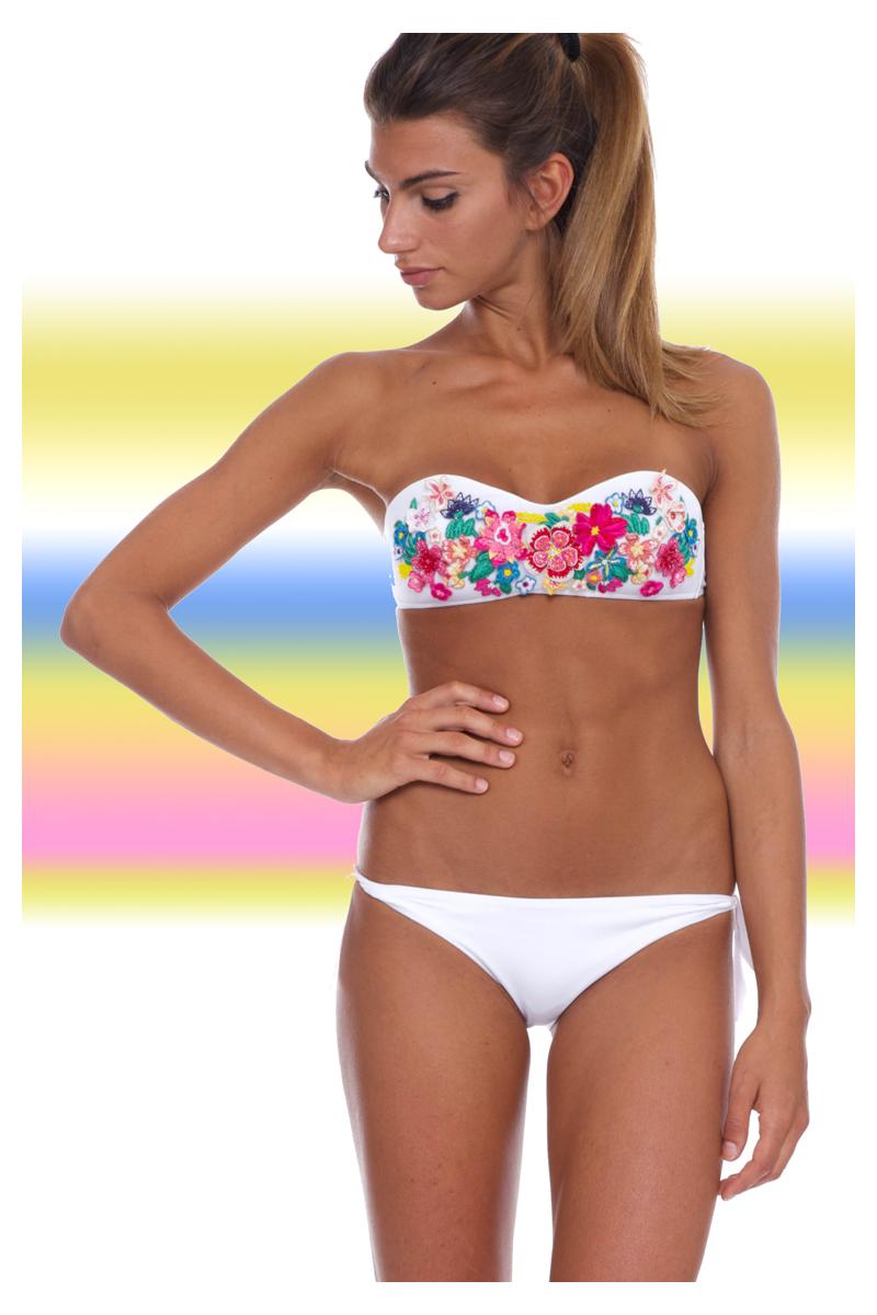 Da Donna a fascia imbottito push up pois costume da bagno Beachwear Costumi da Bagno Bikini Set