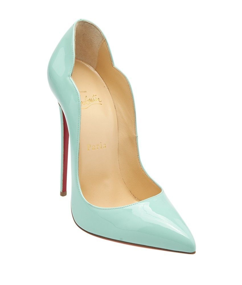 7afb61a677e These Christian Louboutin Hot Chick 130 Opaline patent leather ...