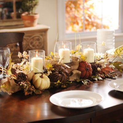 Natural Mixed Pumpkin Centerpiece Kirklands Pumpkin Centerpieces Fall Dining Table Decor Fall Dining Table