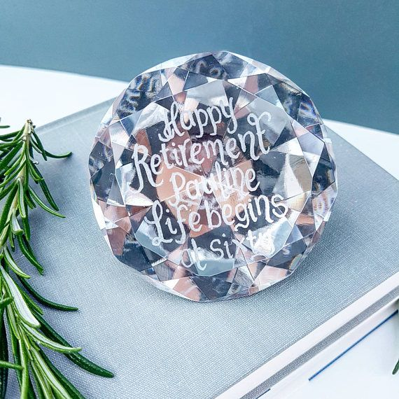 Personalised Glass Paperweight, Custom Diamond Crystal