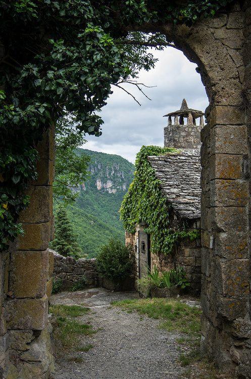 St-Veran Archway, Midi-Pyrenees, France