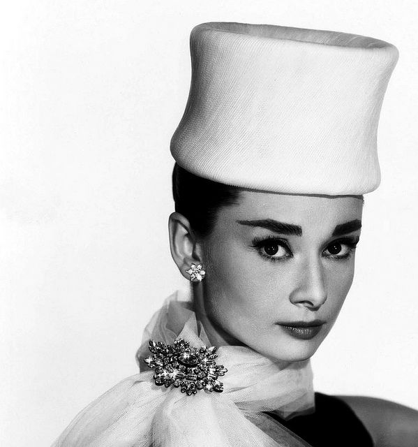 """Audrey Hepburn photographed by Bud Fraker for the publicity of the film """"Funny Face"""" in Paris (France), Fall of 1956."""