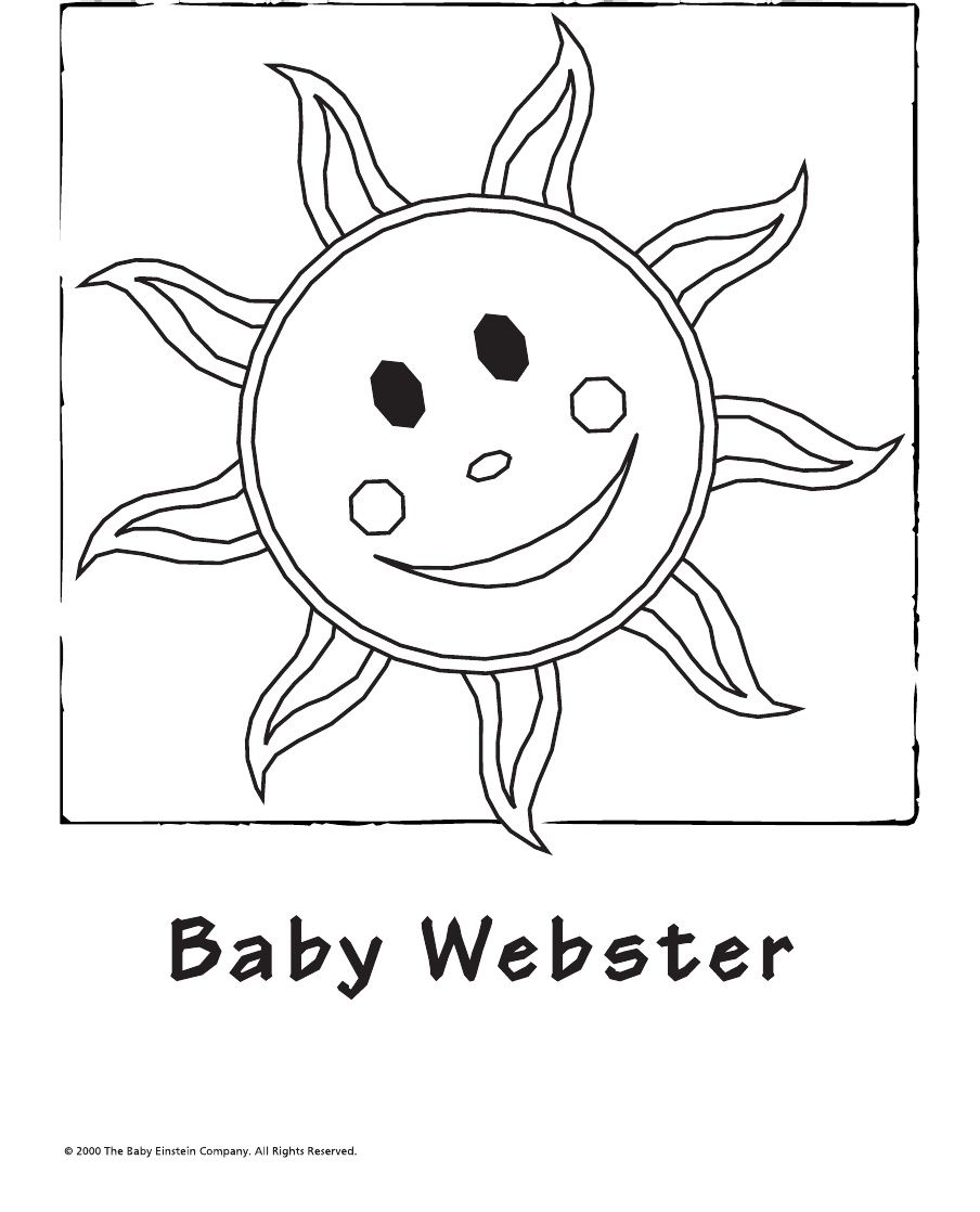 Beautiful Baby Einstein Coloring Book All 20 Pages