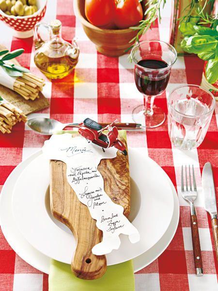 Italienische Tischdeko Wie Im Lieblingsrestaurant Italian Theme