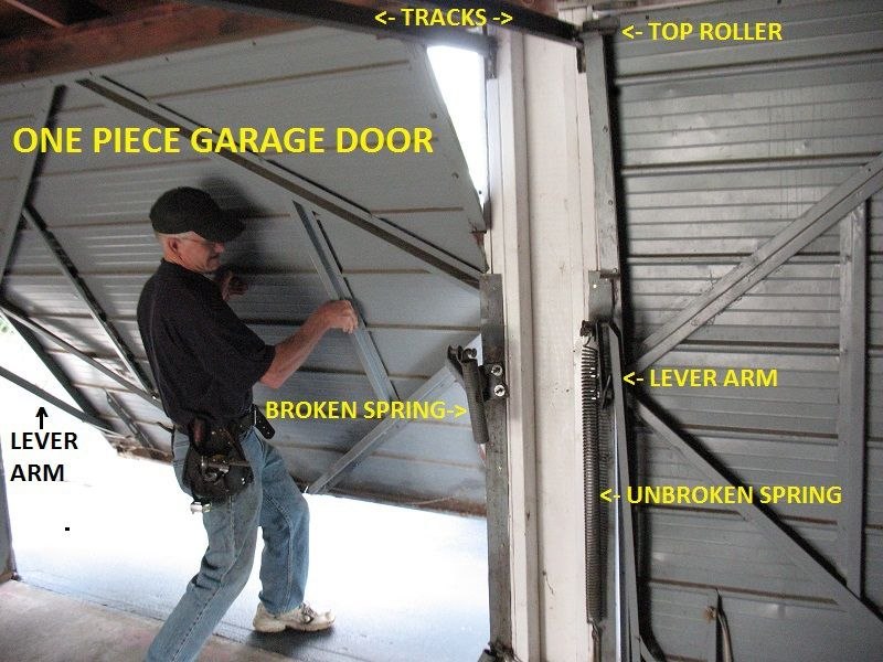 One Piece Garage Doors Garage Door Spring Replacement Garage Door Springs Door Plan