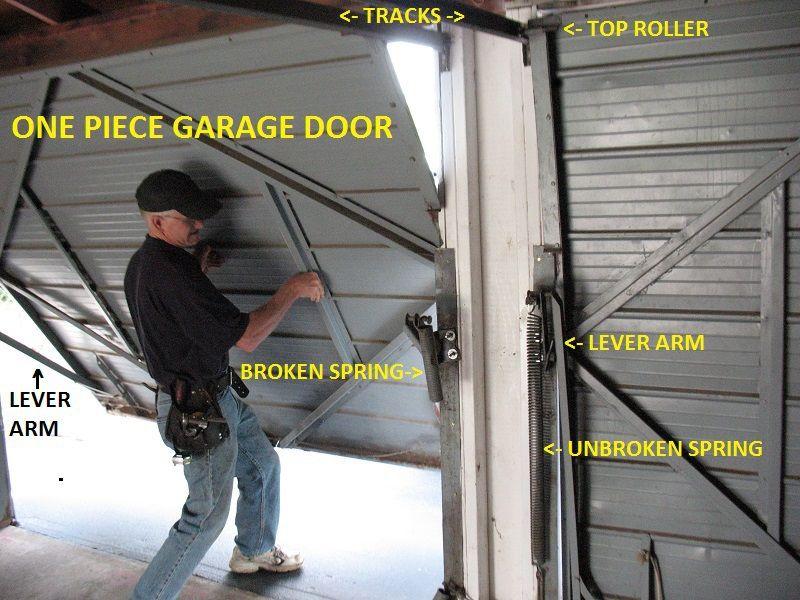 One Piece Garage Doors Garage Door Spring Replacement Garage